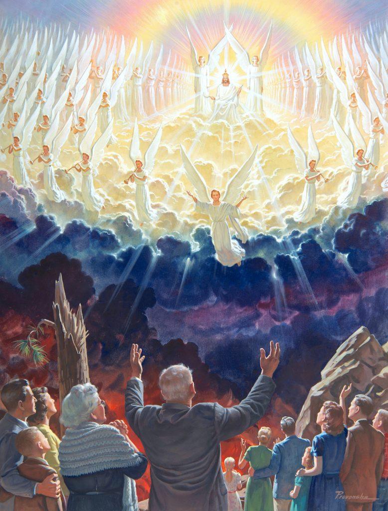 Angels during Christ's return